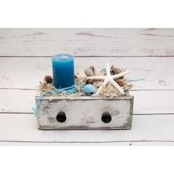 Schublade Kerze und Seestern