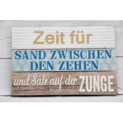 """Spruchschild """"Zeit für"""""""