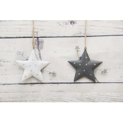 Sterne weiss und grau