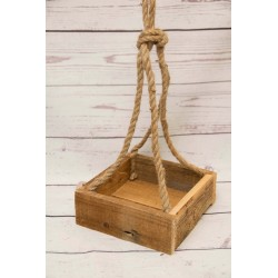 Blumenampel-Holzbox