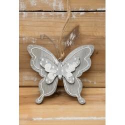 Schmetterling grau-weiss