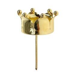 Teelichthalter Krone gold 4er Set